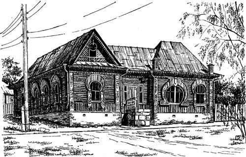 Деревянный дом на углу улиц толмачёва