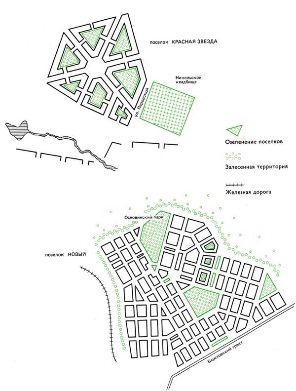 Схема планировки новых жилых