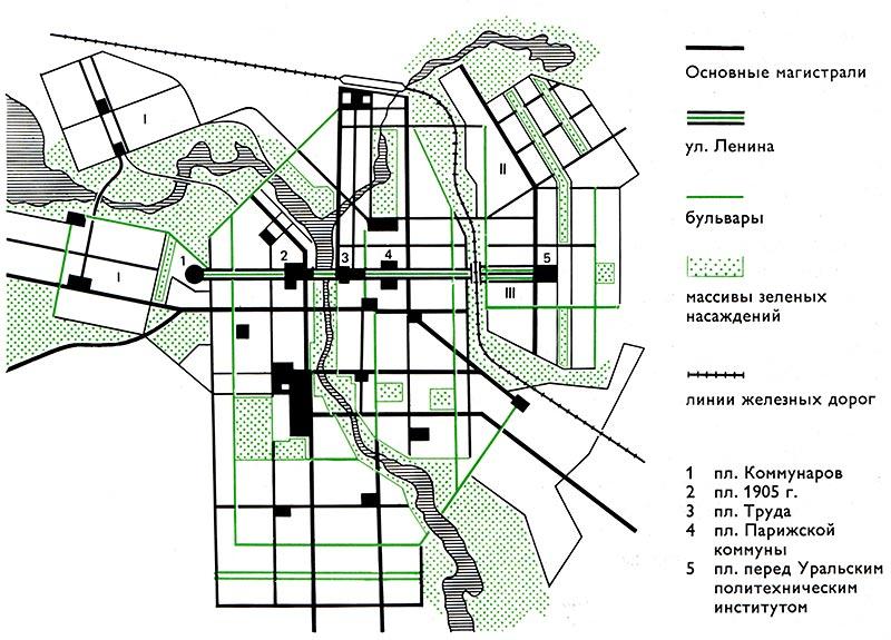 Схема планировки центральных
